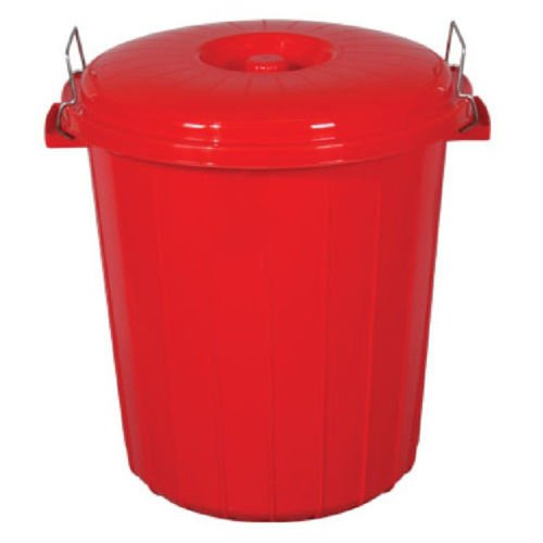 Large 70 Litre RED Plastic Bin Rubbish Waste Paper Recycling Dustbin Animal Feed Seed Storage S&MC Gardenware