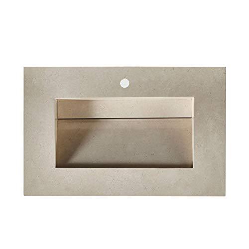 Crema Marfil Countertops - Silkroad Exclusive T0136CRC Bathroom Sink Top, 36