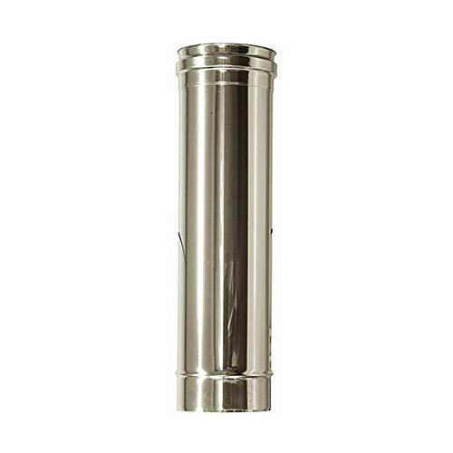 Canna fumaria DN 130 1 mt L 1000mm tubo acciaio inox 316 INOX.