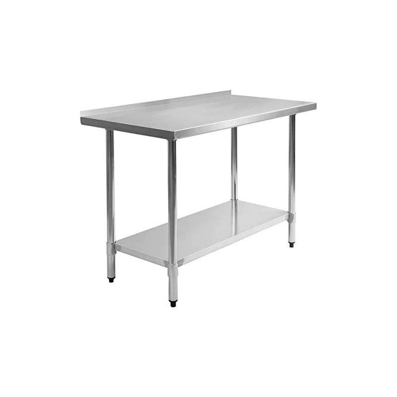 Giantex Stainless Steel Work Prep Table with Backsplash Kitchen Restaurant