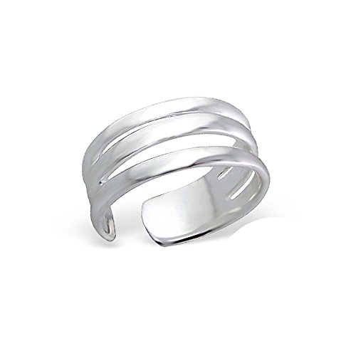 Worldjewelry Sterling Silver Toe Ring Stretch Infinity Wide Nicely Crafted Safe To Wear ()
