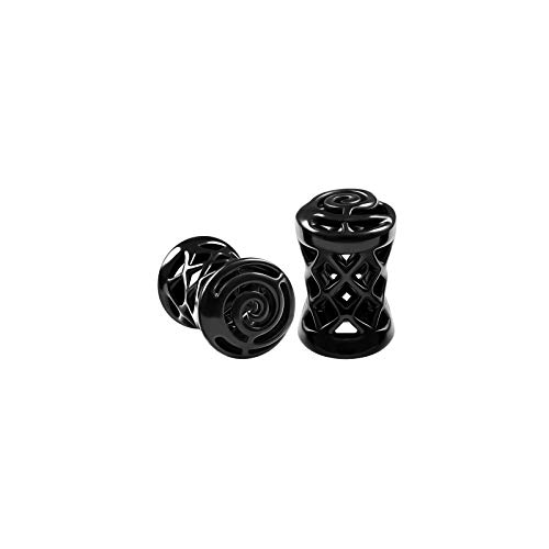 BIG GAUGES Pair of Blackline Alloy 4gauges 5 mm Double Flared Saddle Piercing Jewelry Ear Flesh Tunnel Stretcher Earring Plugs BG6131