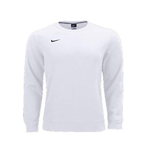 - Nike Men's Club Fleece Crew Sweater (White/Black, X-Large)