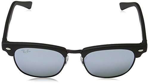Ray-Ban Jr. Kids Clubmaster Kids Sunglasses (RJ9050) Black Matte/Grey Metal - Non-Polarized - 45mm