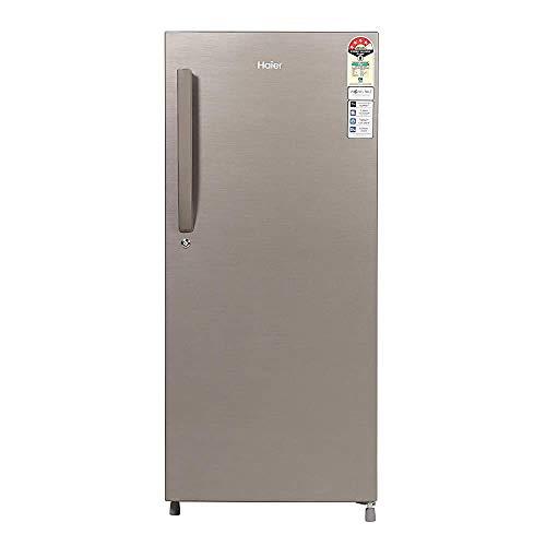 Renewed  Haier 195 L 4 Star Direct Cool Single Door Refrigerator  HED 20CFDS cr, Dazzle Steel