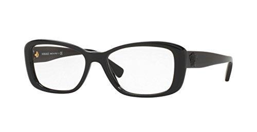 Amazon.com: Versace VE3228 Eyeglass Frames GB1-52 - 52mm Lens ...