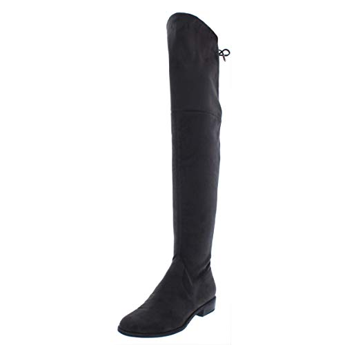 (Marc Fisher Womens Humor 2 Faux Suede Over-The-Knee Boots Gray 7.5 Medium US)