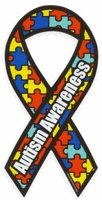 Flagline Made in USA Autism Awareness Magnet 4 X 8 Inches Autism Awareness Ribbon Magnet