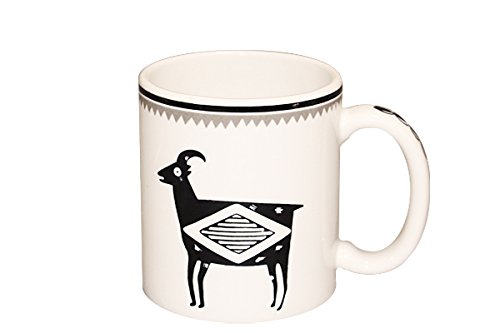 Mimbreño 11 oz Bighorn Sheep Mug (El Tovar Black), Made 100% in USA