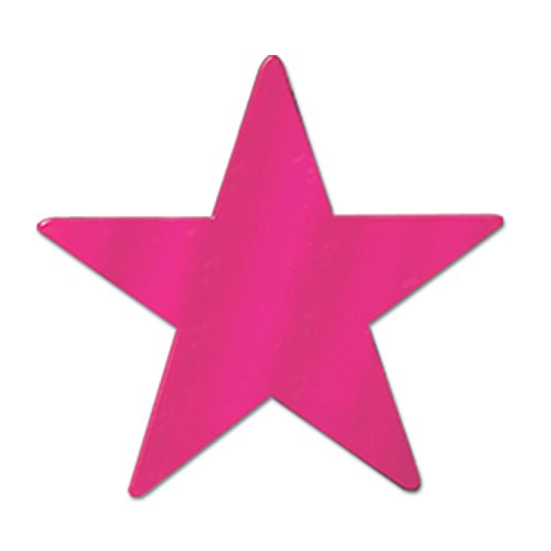 Foil Cerise Stars (Beistle S57027CAZ6 Cutouts Party Decorations, Cerise)