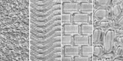 Makin's Clay Bulk Buy Texture Sheets Set A (Cobblestone/Brick/Wave/Sand) M380-1 (3-Pack)