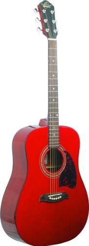 (Oscar Schmidt OG2 Dreadnought Acoustic Guitar - Transparent Red)