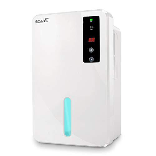 MANZOKU Dehumidifier Electric Portable Mini Air Dehumidifiers Auto Quiet up to 269 sq ft Anti Overflow 1.5L Tank Dehumidifier Home Basement Bathroom Closet RV Office