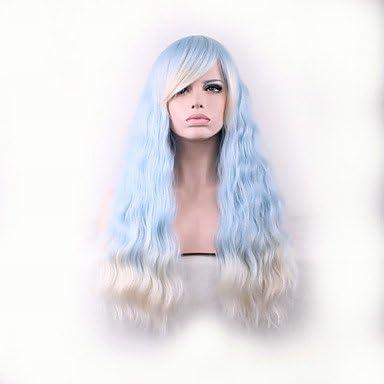 hjl de vendidas Europa y los Estados Unidos larga peluca azul ...