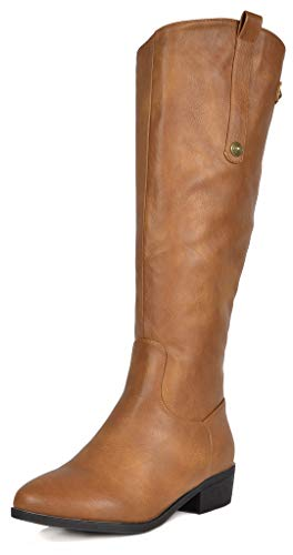 DREAM PAIRS Women's Camel Luccia-New Knee High Winter