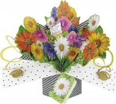 Second Nature Pop Ups For You on your Birthday Bouquet Pop Up Card