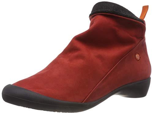 Softinos Farah Nubuck Combi, Bottines Femme Rouge (red/black 551)