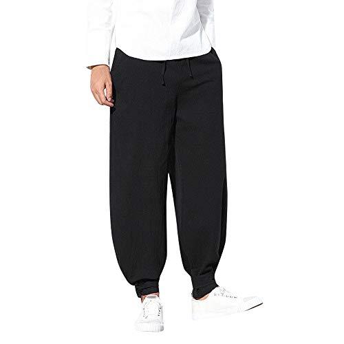 抵抗力がある更新する排出ショートパンツ メンズ Dafanet ハーフパンツ メンズ スポーツ 七分丈 大きいサイズ サルエルパンツ ズボン 袴パンツ ワイドパンツ ファッション 麻 短パン カジュアル 夏 無地 調整紐 ゆったり 通気性