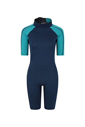 (Mountain Warehouse Shorty Womens Wetsuit - Neoprene Ladies Swimsuit Blue Medium)