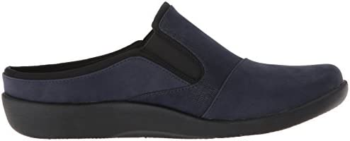 Clarks Women\'s Sillian Free Clog, Navy Synthetic Combi, 095 M US