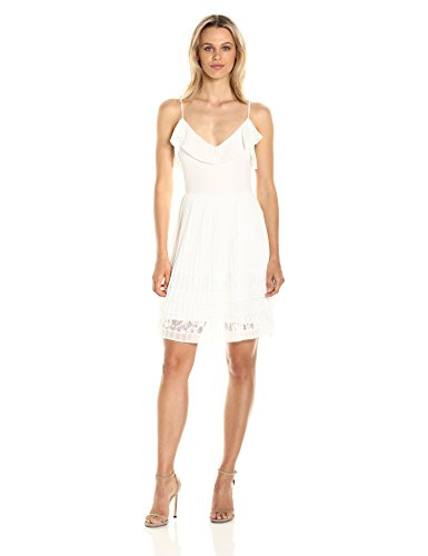 French Connection Women's Adanna Pleat Jersey Dress, Summer White, 2 by French Connection