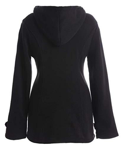 Lunga Prodotto Schwarz Incappucciato Plus Invernali Eleganti Calda Outerwear Donna Giacche Moda Cappotto Vintage Termico Manica Casual Duffle Inverno Utw7xBTq