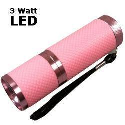 LED Taschenlampe 3 Watt mit Aluminiumgehä use, rosa CP