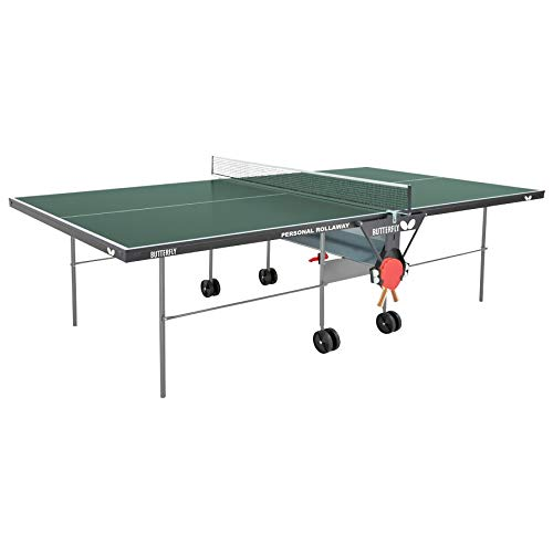 Butterfly Personal Table Tennis Table – 3 Year Warranty - Folding Ping Pong Table with Ping Pong Paddle and Ball Holder