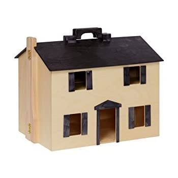 Amazon Com Amish Made Wooden Doll House With 16 Piece