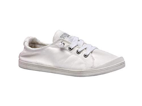 - Dunes Sport Women's Reesa White Fabricfashion-Sneakers 9 C/D US