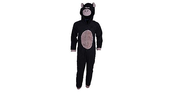 Niño Negro Gorilla Pajamas Pijamas/Mono/Disfraz/Onesie 3 – 13 ...