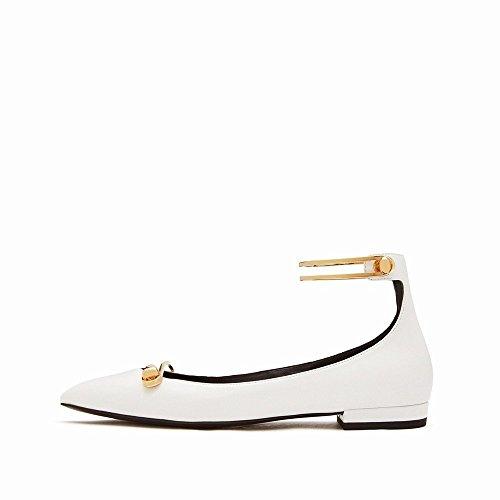 Simples Profonde Printemps Femmes' Simple D'Été NSX 'Mot Les Chaussures Boucle de Et des Peu B avec S Chaussures Chaussures Plat Bouche Plat Femmes nSpwax