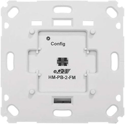 ELV Homematic Komplettbausatz Funk-Wandsender 2-Fach f/ür Markenschalter HM-PB-2-FM Batteriebetrieb
