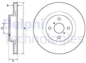 DELPHI BG4762C Bremsscheibe Scheibenbremsen Bremsscheiben x2