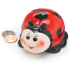 Cute Ladybug Mini Piggy Bank Adorable Gift Item And Collectable
