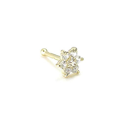 Christina Nose Ring (14kt Yellow Gold Flower CHRISTINA AQUILERA Nose Bone 20g)
