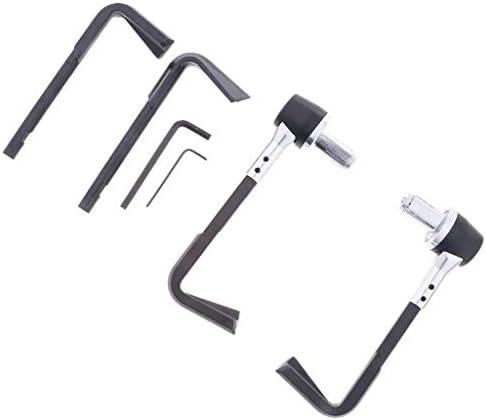 CHENBIN-BB 22ミリメートルハンドルのために2個黒いプラスチックのオートバイハンドガードクラッチブレーキレバーガード