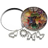 Kitchen Craft 11 Butterfly and Flower Cutters With Metal Storage Tin