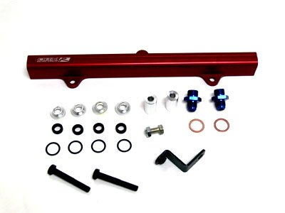 OBX Red Fuel Injection Rail for 95-99 Toyota MR2 Turbo 3S-GTE w/ 3rd Gen. Cylinder Head (JDM/EDM ONLY)