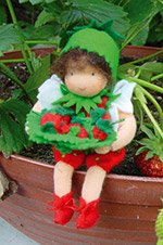 Wild Strawberry Doll Flower Children Doll Kit by De Witte - Doll Waldorf Kits