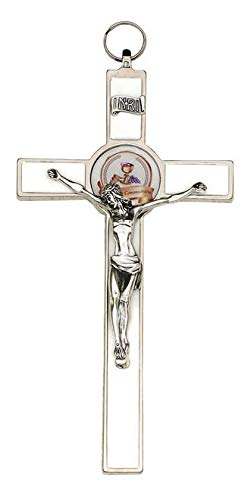 LMM001 8 inch White Enamel Communion Cross