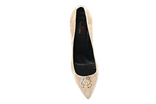 G suede Shoes courts AN61 Woman beige BRACCIALINI 37 zR0xAF