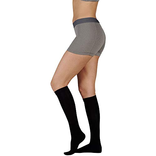 Juzo 3511MXADFF5SBSH10 IV Dynamic Max 20-30 mmHg Full Foot Knee High Firm Compression Stockings With 5 cm Silicone Border In Short - Black44; IV - Large