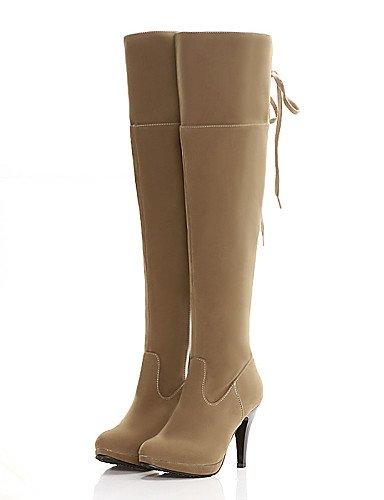 Zapatos Xzz De 5 negro Brown Exterior Estilos Eu39 us10 Cn39 us8 Vestido Eu42 Botas Cerrada Ante Casual Khaki Uk8 U Sintético Tacón Uk6 Mujer Stiletto Punta Marrón Cn43 5 rrdU5q