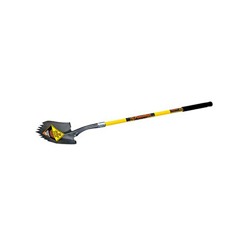 (Seymour S710 48-Inch Long Fiberglass Handle Notched Super Shovel Round Poin)