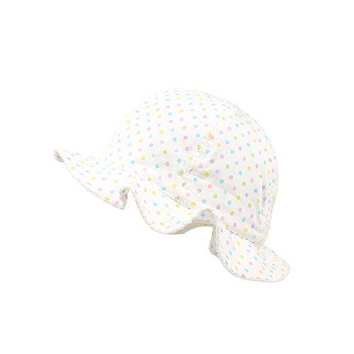 - KASULAR Newborn Kids Hat Girls Travel In sunshade Hat Pure Cotton Breathable Sun Cap Spring Summer 6-18 Months(6-18 Months,white)