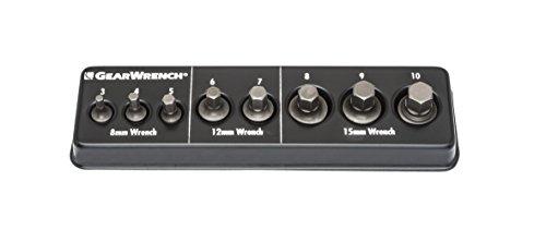 - GEARWRENCH 81550 8 Pc. Metric Ratcheting Wrench Metric Hex Insert Bit Set, Black