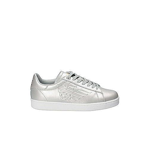 233b32be03b Emporio Armani EA7 Zapatos Zapatillas de Deporte Mujer en Piel Nuevo  Classic Gri Outlet