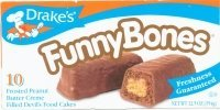 Drake's Cakes Funny Bones, 10 cakes, 13.03oz (pack of 2)'' [ total 20 cakes, 26.06oz]