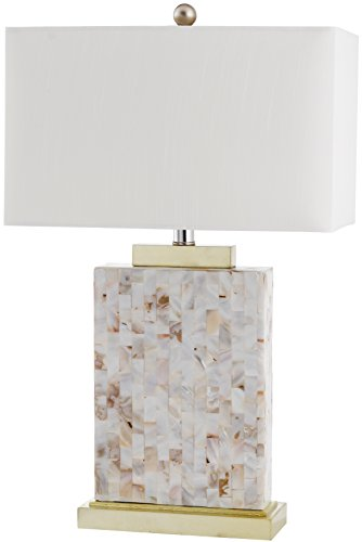 Safavieh Lighting Collection Tory Shell 24.5-inch Table Lamp (Shell Mosaic Table Lamp)